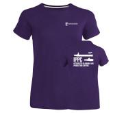 Ladies Russell Purple Essential T Shirt-IPPC