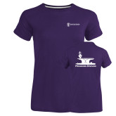 Ladies Russell Purple Essential T Shirt-Programs Division
