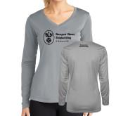 Ladies Syntrel Performance Platinum Longsleeve Shirt-Submarine Construction