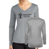 Ladies Syntrel Performance Platinum Longsleeve Shirt-Nuclear Propulsion