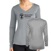 Ladies Syntrel Performance Platinum Longsleeve Shirt-Navy Programs