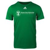 Adidas Kelly Green Logo T Shirt-Newport News Shipbuilding