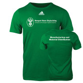 Adidas Kelly Green Logo T Shirt-Manufacturing and Material Distribution