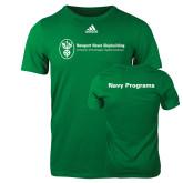 Adidas Kelly Green Logo T Shirt-Navy Programs