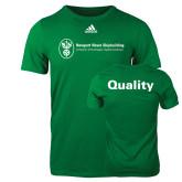Adidas Kelly Green Logo T Shirt-Quality