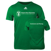 Adidas Kelly Green Logo T Shirt-Contracts and Pricing