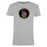 Ladies Grey T Shirt-CVN 80