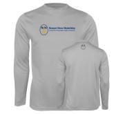 Performance Platinum Longsleeve Shirt-Newport News Shipbuilding