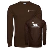 Brown Long Sleeve T Shirt-Programs Division