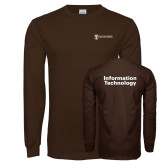 Brown Long Sleeve T Shirt-Information Technology