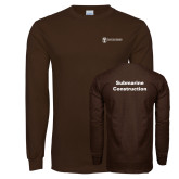Brown Long Sleeve T Shirt-Submarine Construction