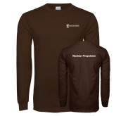 Brown Long Sleeve T Shirt-Nuclear Propulsion