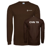 Brown Long Sleeve T Shirt-CVN 79