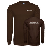Brown Long Sleeve T Shirt-Manufacturing and Material Distribution
