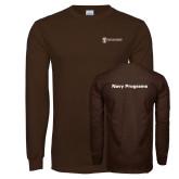 Brown Long Sleeve T Shirt-Navy Programs