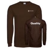 Brown Long Sleeve T Shirt-Quality