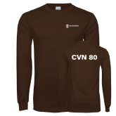 Brown Long Sleeve T Shirt-CVN 80 and 81