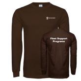 Brown Long Sleeve T Shirt-Fleet Support Programs