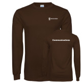 Brown Long Sleeve T Shirt-Comms