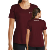Ladies Performance Maroon Tee-Contracts and Pricing