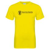Neon Yellow T Shirt-Newport News Shipbuilding