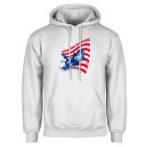White Fleece Hoodie-NNS Flag