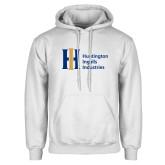 White Fleece Hoodie-Huntington Ingalls Industries