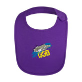 Purple Baby Bib-Future Shipbuilder Carrier Ship
