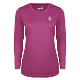 Ladies Syntrel Performance Raspberry Longsleeve Shirt-Icon