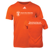 Adidas Orange Logo T Shirt-Manufacturing and Material Distribution