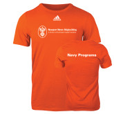 Adidas Orange Logo T Shirt-Navy Programs