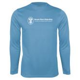 Performance Light Blue Longsleeve Shirt-Newport News Shipbuilding