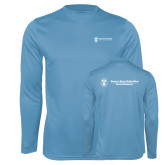 Performance Light Blue Longsleeve Shirt-Business Management