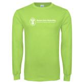 Lime Green Long Sleeve T Shirt-Newport News Shipbuilding