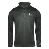 Russell Charcoal Heather 1/4 Zip-Huntington Ingalls Industries