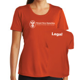 Ladies Syntrel Performance Orange Tee-Legal