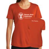 Ladies Syntrel Performance Orange Tee-Navy Programs