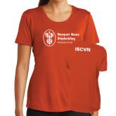 Ladies Syntrel Performance Orange Tee-ISCVN