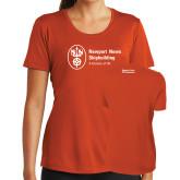Ladies Syntrel Performance Orange Tee-Strategic Sourcing