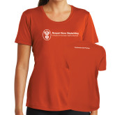 Ladies Syntrel Performance Orange Tee-Contracts and Pricing