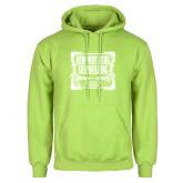 Lime Green Fleece Hoodie-NNS Vintage