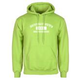 Lime Green Fleece Hoodie-NNS College Design