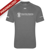 Under Armour Carbon Heather Tech Tee-HR and A
