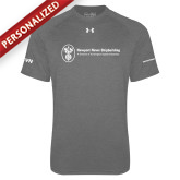 Under Armour Carbon Heather Tech Tee-ISCVN