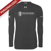 Under Armour Carbon Heather Long Sleeve Tech Tee-NNS IT