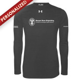 Under Armour Carbon Heather Long Sleeve Tech Tee-Manufacturing and Material Distribution