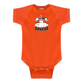Orange Infant Onesie-Future Shipbuilder Submarine