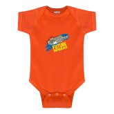 Orange Infant Onesie-Future Shipbuilder Carrier Ship