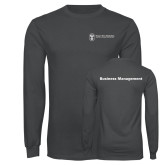 Charcoal Long Sleeve T Shirt-Business Management