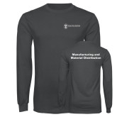 Charcoal Long Sleeve T Shirt-Manufacturing and Material Distribution